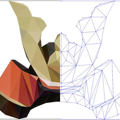 2013、4年頃に地味に流行ってた「ポリゴンデザイン」に挑戦